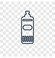 bleach cleanin concept linear icon isolated on vector image