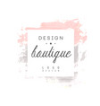 boutique design logo badge for fashion clothes vector image vector image