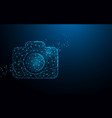 camera icon from lines triangles and particle vector image