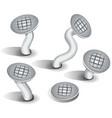 cartoon nails set vector image vector image