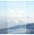 Christmas card with blurred snowy mountain vector image