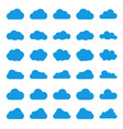 cloud icon set black color on white background sky vector image vector image