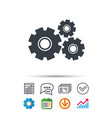 Cogwheels icon repair service sign