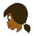 comic cartoon pretty female face vector image vector image