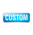 custom blue square 3d realistic isolated web vector image vector image