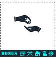 donate icon flat vector image