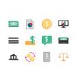 finance money business economy icons set vector image vector image