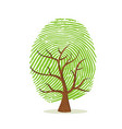 fingerprint tree of green human finger print vector image vector image