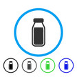 full bottle rounded icon vector image