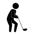 golf player with club avatar character vector image vector image
