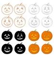 Halloween pumpkins Jack O Lantern set vector image