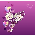 Hand drawn sakura design vector image vector image