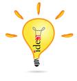idea bulb part two vector image vector image