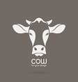 Image of a cow head design vector image vector image