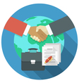 International Business Cooperation vector image