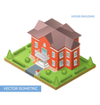 Isometric house and building vector image vector image