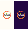 juice logo design vector image