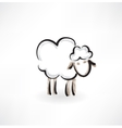 lamb grunge icon vector image