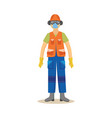 man standing in industrial protective clothing and vector image vector image