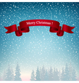 Merry Christmas Landscape in Blue Shades vector image vector image