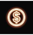Neon clover silhouette icon vector image vector image