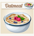 oatmeal cartoon icon vector image vector image