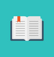 open book icon in flat style literature on vector image vector image