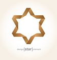Origami David Star from old paper vector image vector image