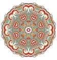 ornamental round lace design vector image vector image