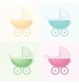 Pastel Baby Carriage vector image vector image
