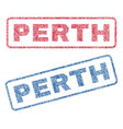 perth textile stamps vector image vector image