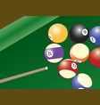 pool table and balls vector image