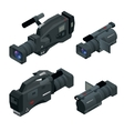 Professional digital video camera set Film lens vector image