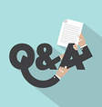 Question And Answer Typography Design vector image