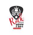 rock fest legendary logo est 1979 emblem vector image