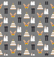 same sex wedding seamless pattern vector image vector image