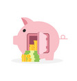 saving money business concept piggy bank flat vector image