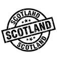 scotland black round grunge stamp vector image vector image