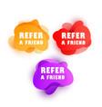 set doodle speech bubbles with refer a friend vector image vector image
