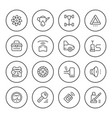 set of car related round line icons vector image vector image