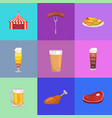 set of images oktoberfest vector image