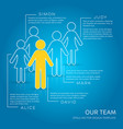 simple our team company creative template vector image vector image