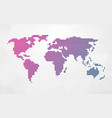 simple world map made up of colored stripes on a vector image