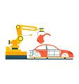smart robotic automobile production line vector image vector image