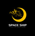 space ship logo outline version vector image