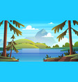summer sea landscape ocean seashore panorama bay vector image vector image