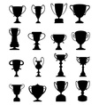 Trophies icons set vector image vector image