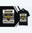 typography slogan t-shirt design vector image vector image
