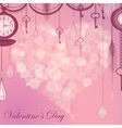 Valentines card with flare heart ans antique vector image