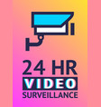 video surveillance camera cctv poster vector image vector image